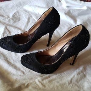 Beaded Lace Badgley Mischka Heels